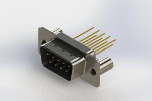 627-M09-223-LT3 - Vertical Machined D-Sub Connectors