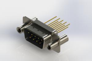 627-M09-223-LT4 - Vertical Machined D-Sub Connectors