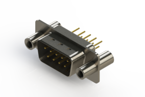 627-M09-320-WN4 - Vertical Machined D-Sub Connectors