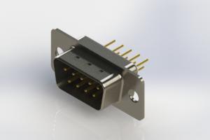 627-M09-320-WT1 - Vertical Machined D-Sub Connectors