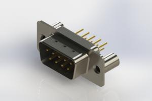 627-M09-320-WT3 - Vertical Machined D-Sub Connectors
