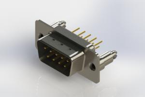 627-M09-320-WT5 - Vertical Machined D-Sub Connectors