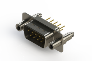 627-M09-320-WT6 - Vertical Machined D-Sub Connectors