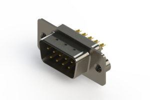 627-M09-322-WN2 - Vertical Machined D-Sub Connectors