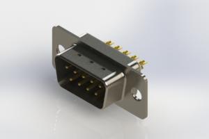 627-M09-322-WT1 - Vertical Machined D-Sub Connectors