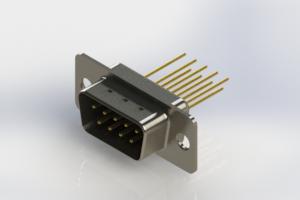 627-M09-323-BN1 - Vertical Machined D-Sub Connectors