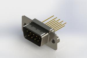 627-M09-323-BN2 - Vertical Machined D-Sub Connectors