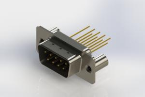 627-M09-323-BN3 - Vertical Machined D-Sub Connectors