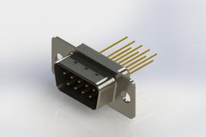 627-M09-323-BT1 - Vertical Machined D-Sub Connectors