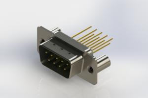 627-M09-323-GN3 - Vertical Machined D-Sub Connectors