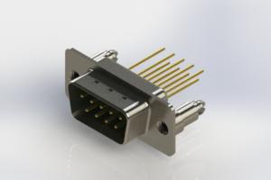 627-M09-323-GN5 - Vertical Machined D-Sub Connectors