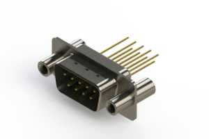 627-M09-323-GT4 - Vertical Machined D-Sub Connectors