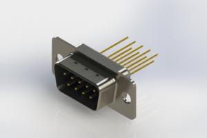 627-M09-323-LT1 - Vertical Machined D-Sub Connectors