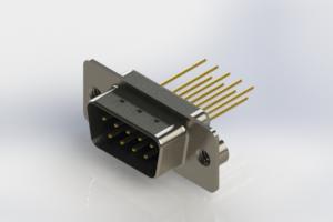 627-M09-323-LT2 - Vertical Machined D-Sub Connectors