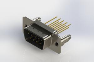627-M09-323-LT5 - Vertical Machined D-Sub Connectors