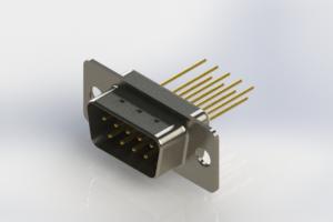 627-M09-323-WN1 - Vertical Machined D-Sub Connectors