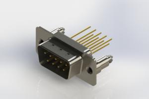 627-M09-323-WN5 - Vertical Machined D-Sub Connectors