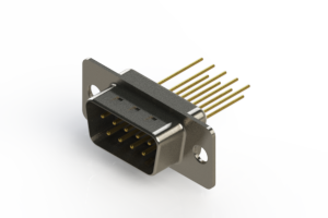 627-M09-323-WT1 - Vertical Machined D-Sub Connectors