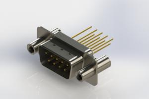 627-M09-323-WT4 - Vertical Machined D-Sub Connectors
