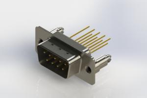 627-M09-323-WT5 - Vertical Machined D-Sub Connectors