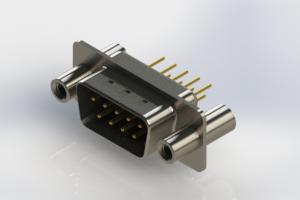 627-M09-620-BN4 - Vertical Machined D-Sub Connectors