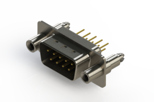 627-M09-620-BN6 - Vertical Machined D-Sub Connectors