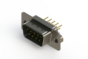 627-M09-620-GN2 - Vertical Machined D-Sub Connectors