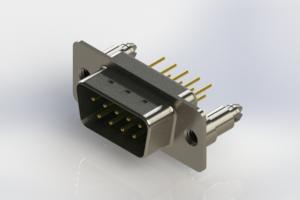 627-M09-620-GT5 - Vertical Machined D-Sub Connectors