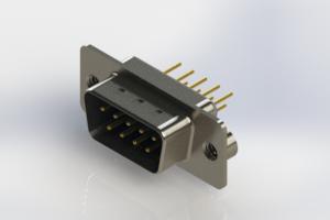 627-M09-620-LN2 - Vertical Machined D-Sub Connectors