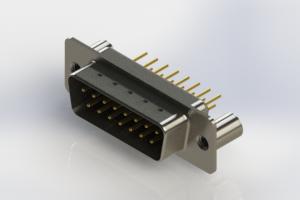 627-M15-320-BN3 - Vertical Machined D-Sub Connectors