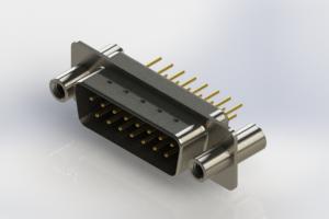 627-M15-320-BN4 - Vertical Machined D-Sub Connectors