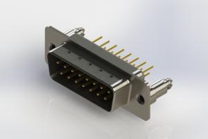 627-M15-320-BN5 - Vertical Machined D-Sub Connectors
