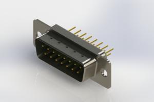 627-M15-320-GN1 - Vertical Machined D-Sub Connectors