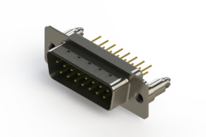 627-M15-320-GN5 - Vertical Machined D-Sub Connectors