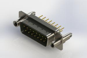 627-M15-320-GT6 - Vertical Machined D-Sub Connectors