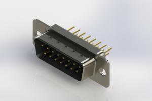 627-M15-320-LN1 - Vertical Machined D-Sub Connectors