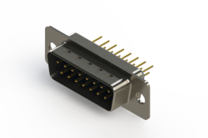 627-M15-320-LT1 - Vertical Machined D-Sub Connectors