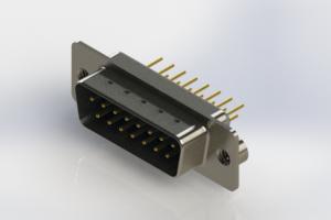 627-M15-320-LT2 - Vertical Machined D-Sub Connectors