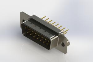 627-M15-320-WT2 - Vertical Machined D-Sub Connectors