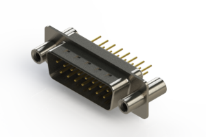 627-M15-320-WT4 - Vertical Machined D-Sub Connectors
