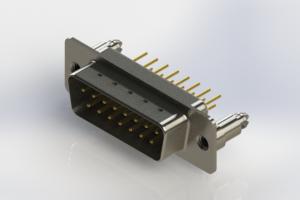 627-M15-320-WT5 - Vertical Machined D-Sub Connectors