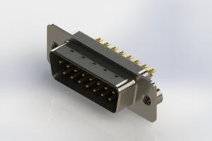 627-M15-322-BN2 - Vertical Machined D-Sub Connectors