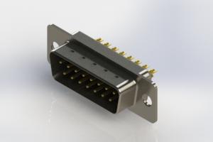 627-M15-322-BT1 - Vertical Machined D-Sub Connectors