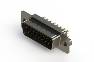 627-M15-322-BT2 - Vertical Machined D-Sub Connectors
