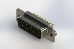627-M15-322-GN2 - Vertical Machined D-Sub Connectors