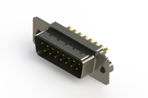 627-M15-322-GT2 - Vertical Machined D-Sub Connectors
