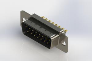 627-M15-322-LT1 - Vertical Machined D-Sub Connectors