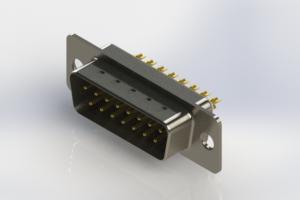 627-M15-322-WT1 - Vertical Machined D-Sub Connectors
