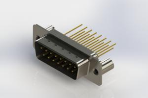 627-M15-323-BN3 - Vertical Machined D-Sub Connectors