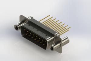 627-M15-323-BN4 - Vertical Machined D-Sub Connectors